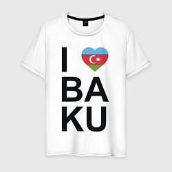Футболка хлопковая мужская Baku цвета белый — фото 1