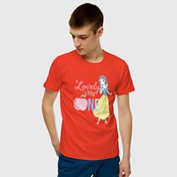Футболка хлопковая мужская Белоснежка цвета рябиновый — фото 2