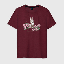 Футболка хлопковая мужская Thumper цвета меланж-бордовый — фото 1