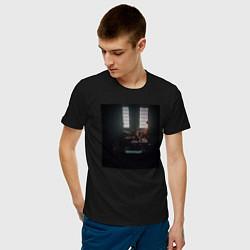 Футболка хлопковая мужская Скриптонит Чистый цвета черный — фото 2