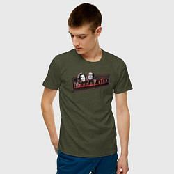 Футболка хлопковая мужская ВандаВижен цвета меланж-хаки — фото 2