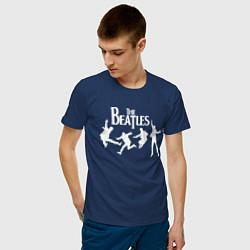 Футболка хлопковая мужская The Beatles цвета тёмно-синий — фото 2