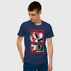 Футболка хлопковая мужская Black Widow цвета тёмно-синий — фото 2