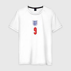 Футболка хлопковая мужская Домашняя форма Гарри Кейна цвета белый — фото 1