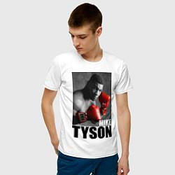 Футболка хлопковая мужская Mike Tyson цвета белый — фото 2