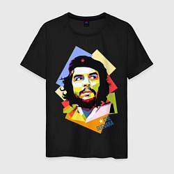 Футболка хлопковая мужская Che Guevara Art цвета черный — фото 1