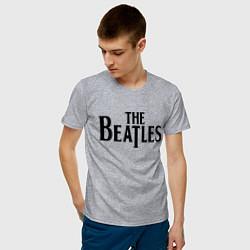 Футболка хлопковая мужская The Beatles цвета меланж — фото 2