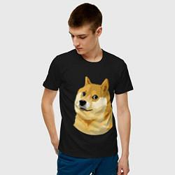 Мужская хлопковая футболка с принтом Doge, цвет: черный, артикул: 10053122000001 — фото 2
