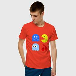 Футболка хлопковая мужская Pac-Man Pack цвета рябиновый — фото 2