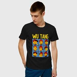 Футболка хлопковая мужская Wu-Tang Clan Faces цвета черный — фото 2