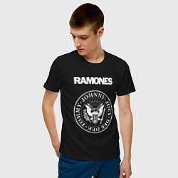 Футболка хлопковая мужская Ramones цвета черный — фото 2