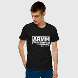 Мужская хлопковая футболка с принтом Armin van Buuren, цвет: черный, артикул: 10061384300001 — фото 2