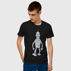 Футболка хлопковая мужская Iron Bender цвета черный — фото 2