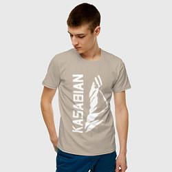 Футболка хлопковая мужская Kasabian цвета миндальный — фото 2