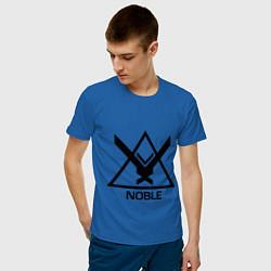 Футболка хлопковая мужская Noble Halo цвета синий — фото 2