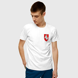 Футболка хлопковая мужская Погоня: герб цвета белый — фото 2