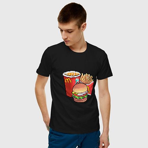 Мужская футболка Фастфуд / Черный – фото 3