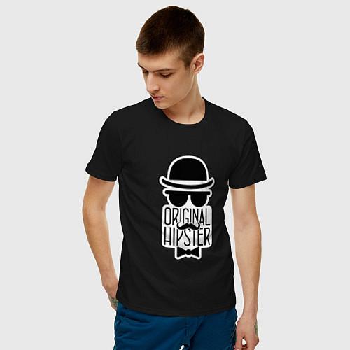 Мужская футболка Original Hipster / Черный – фото 3