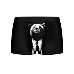 Трусы-боксеры мужские Медведь бизнесмен цвета 3D-принт — фото 1