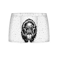 Трусы-боксеры мужские Рык гориллы цвета 3D — фото 1