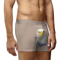 Трусы-боксеры мужские Геометрический орел цвета 3D — фото 2