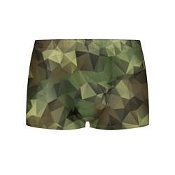 Трусы-боксеры мужские Полигональный камуфляж цвета 3D — фото 1