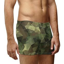 Трусы-боксеры мужские Полигональный камуфляж цвета 3D — фото 2