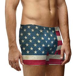 Трусы-боксеры мужские Флаг USA цвета 3D-принт — фото 2