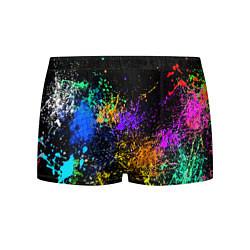 Трусы-боксеры мужские Брызги красок цвета 3D — фото 1