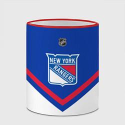 Кружка 3D NHL: New York Rangers цвета 3D-красный кант — фото 2