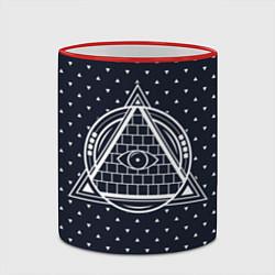 Кружка 3D Illuminati цвета 3D-красный кант — фото 2