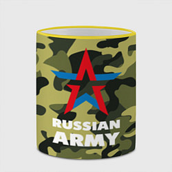 Кружка 3D Russian army цвета 3D-желтый кант — фото 2