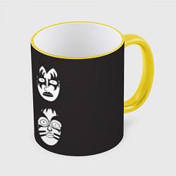Кружка 3D KISS Mask цвета 3D-желтый кант — фото 1