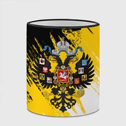 Кружка 3D Имперский флаг и герб цвета 3D-черный кант — фото 2
