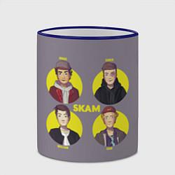 Кружка 3D Skam Faces цвета 3D-синий кант — фото 2