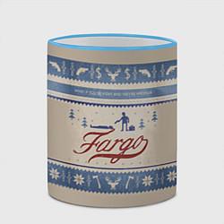 Кружка 3D Fargo Winter цвета 3D-небесно-голубой кант — фото 2