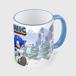 Кружка 3D Sonic Stories цвета 3D-небесно-голубой кант — фото 1