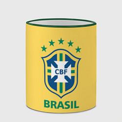 Кружка 3D Brazil Team цвета 3D-зеленый кант — фото 2