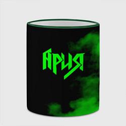 Кружка 3D Ария цвета 3D-зеленый кант — фото 2