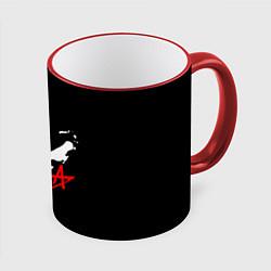 Кружка 3D АлисА цвета 3D-красный кант — фото 1