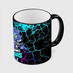 Кружка 3D BRAWL STARS LEON ОБОРОТЕНЬ цвета 3D-черный кант — фото 1