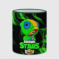 Кружка 3D BRAWL STARS LEON цвета 3D-зеленый кант — фото 2