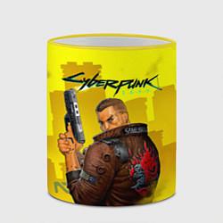 Кружка 3D Cyberpunk 2077 цвета 3D-желтый кант — фото 2