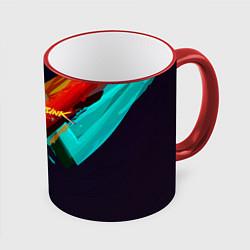 Кружка 3D CYBERPUNK 2077 CITY цвета 3D-красный кант — фото 1