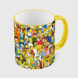 Кружка 3D Simpsons Stories цвета 3D-желтый кант — фото 1