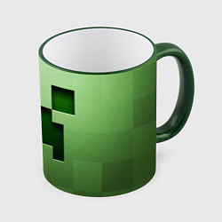 Кружка 3D Creeper Face цвета 3D-зеленый кант — фото 1