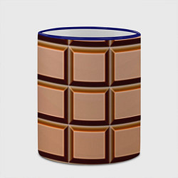 Кружка 3D Шоколад цвета 3D-синий кант — фото 2