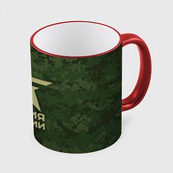 Кружка 3D Армия России цвета 3D-красный кант — фото 1