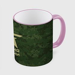 Кружка 3D Армия России цвета 3D-розовый кант — фото 1