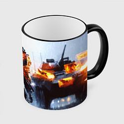 Кружка 3D Battlefield Multiplayer цвета 3D-черный кант — фото 1
